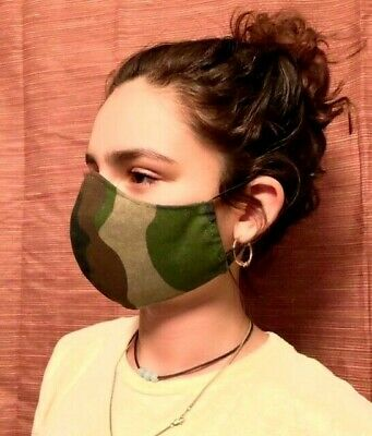 Cloth face mask various sizes with filter pocket and removable nose bridge