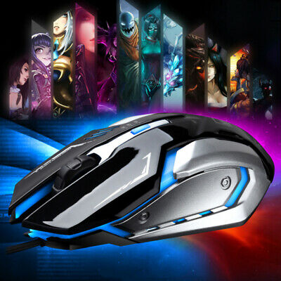 K1 1600DPI Mouse USB Ottico LED con filo Luce per PC Notebook Laptop Computer
