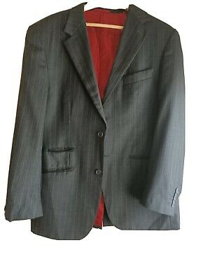 Industrie Incorporated stripe Suit 107r - Rrp $600
