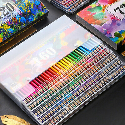 New 48/72/120/160 Colors Oil Pencils Set Artist Painting Sketching School Art
