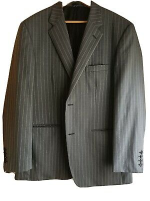Peter Jackson striped Blue Label Collection Suit Size 104, Rrp $600