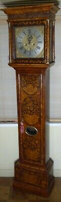 Superb Antique Walnut Floral Marquetry Longcase / Grandfather Clock