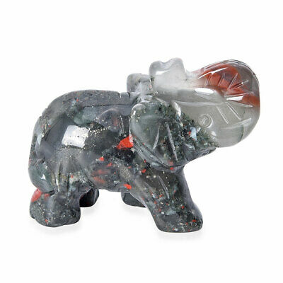 Home Decor Handcrafted Natural Multi Gemstone Carved Elephant Fathers Day Gifts