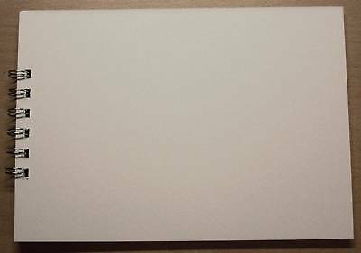 WHITE Mountboard Scrapbook Album 20 Pages A5 Bind ItAll