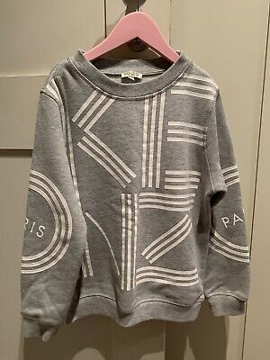 Kenzo Kids Girls Sweat Top Jumper Size 10 (suitable 8-10 Years)