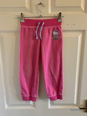 Pink M&S Hello Kitty Joggers Jogging Bottoms Age 4/5 (4871)