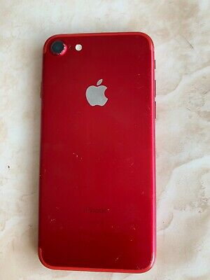 Apple iPhone 7  - 128GB (Unlocked) - Red - See Description (re Batt)