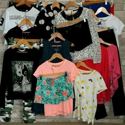 28 Items Age 9 - 10 Years Girls Clothes Bundle Next H&M George TU F&F Tops Dress