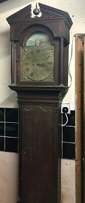 Tall Antique Grandfather Clock With Rocking Boat Movement