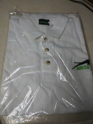 Brand New White Arctic Cat Golf Shirt Size Large With Pocket