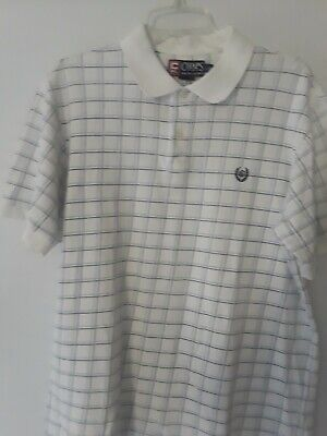 VTG Chaps Ralph Lauren RL Mens Size L Polo Shirt Crown Embroidered  Crest EUC