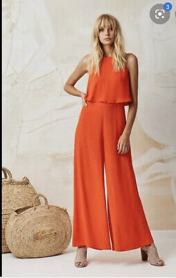 Mister Zimi Charlie Jumpsuit Red Coral Size 10