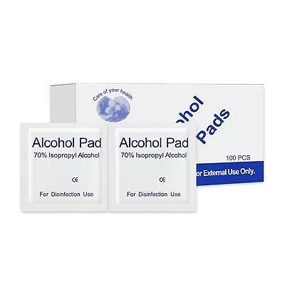 200PCS Disposable Alcohol Prep Pads 70% Isopropyl Alcohol