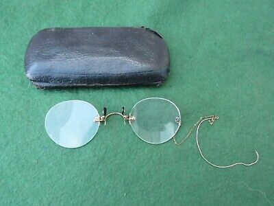 Pair Of Antique Pince-Nez Glasses With Carrying Case