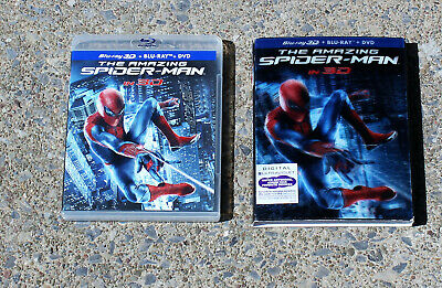 The Amazing Spider-Man In 3D 4 Disc Blu-Ray Set W/Lenticular Slipcover Like New
