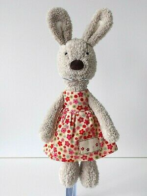 Jellycat - Beatrice Bunny / Floral Dress - Soft Beige Rabbit - Retired