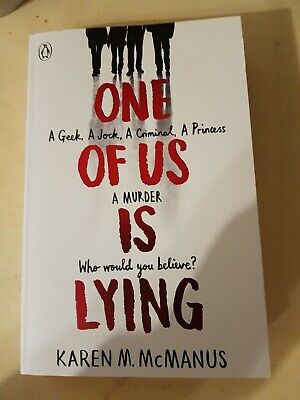 One Of Us Is Lying by McManus, Karen Book The Cheap Fast Free Post