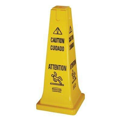 """Rubbermaid FG627700 Multilingual 26"""" Caution Safety Cone"""