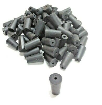100 Qty pack Laboratory Stoppers- Size 00 -- With Single Hole