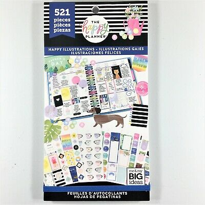 The Happy Planner Happy Illustrations Sticker Book Pack Of 521 Me & My Big Ideas