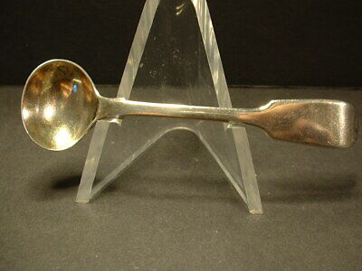 1863 Great Britain Sterling Silver Salt Spoon! Hallmarked For London! S.h. Maker