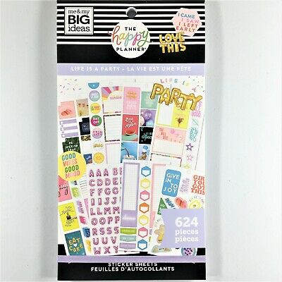 The Happy Planner Life Is A Party Sticker Book Pack Of 624 Me & My Big Ideas