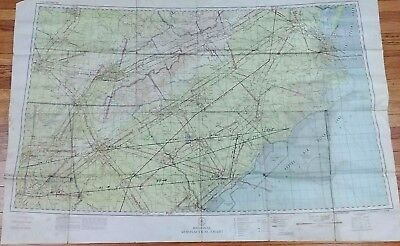 1943 WWII Aeronautical Map Chart Restricted Airspace Regional Southeast US World