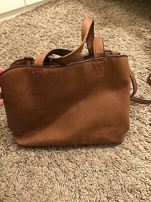 Womens Oasis bag brown faux leather n