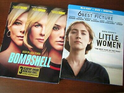 2 New Sealed Blu-Ray Little Women & Bombshell Dvd Feminist Anti-Fox News Digital