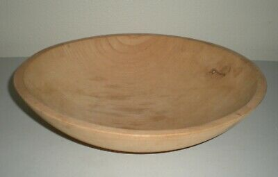 "Vintage Butter / DOUGH BOWL Large 10.75"" Hand Turned Maple Wood Primitive Mixing"