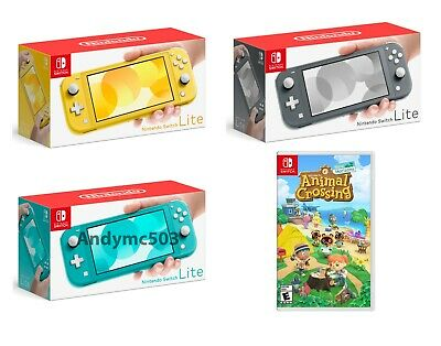 Nintendo Switch Lite Handheld Console w/ Animal Crossing New Horizons PICK COLOR