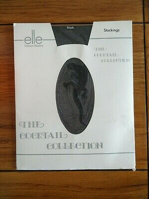 Elle The Cocktail Collection Gecko Motif Stockings One Size Black