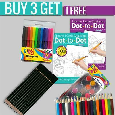 Extreme Dot To Dot Puzzle Challenge Books Adult Therpy Anti-Stress Fun Activity
