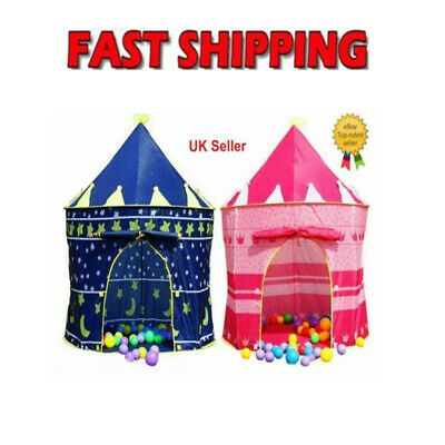 Childrens Kids Baby Pop Up Play Tent Fairy Girls Boys Playhouse Outdoor SQ