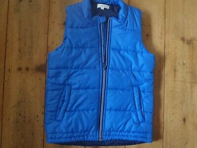 Bnwot Seed (Heritage) Puffer Vest, Sz:8-9. Blue With Black Lining. 2 Pockets
