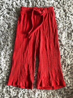 Zara Red Cropped Trousers Age 8