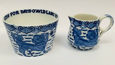 Copeland Spode Auld Lang Syne Sugar And Cream - Burn's Pattern