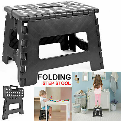 Heavy Duty Plastic Step Stool Foldable Multi Purpose Kitchen Home Use Library UK