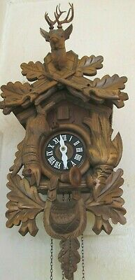 Vintage German Hunter Cuckoo Clock
