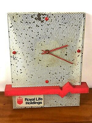Vintage Royal Life Holdings Advertising Wall Clock [6060]