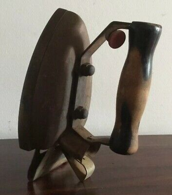 Vintage Iron With Wooden Handle 'Falco' Brand Falkirk Iron Co. @ 30's Decorative