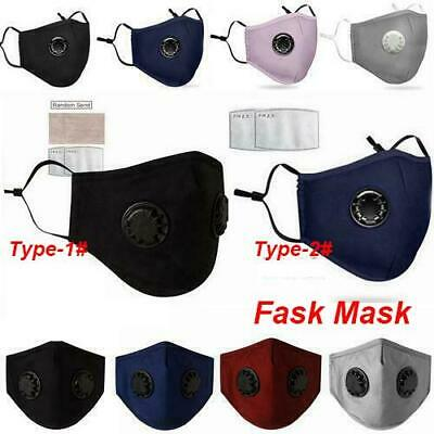 Washable Breathable Face Mouth Anti Protection With Filter Valved