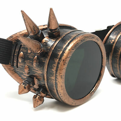 Steampunk welding goggles glasses eye protection cyber goth punk sunglasses