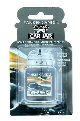 Yankee Candle Car Jar Air Freshener Ultimate New Car Scent - Brand New