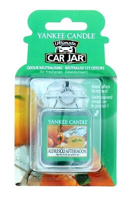 Yankee Candle Car Jar Air Freshener Ultimate Alfresco Afternoon - Brand New