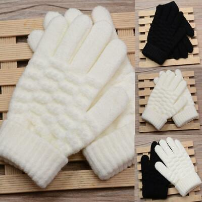 Unisex Children Fashion Winter Casual Jacquard Solid Warm Gloves s2zl 03