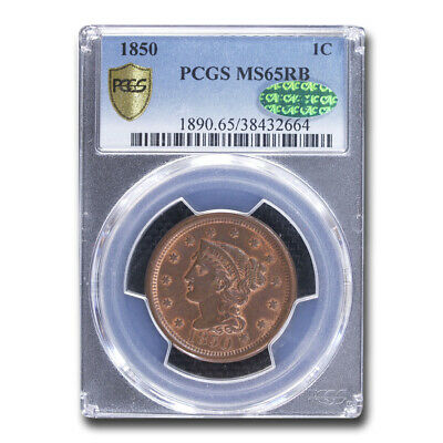 1850 Large Cent MS-65 PCGS CAC (Red/Brown) - SKU#211029