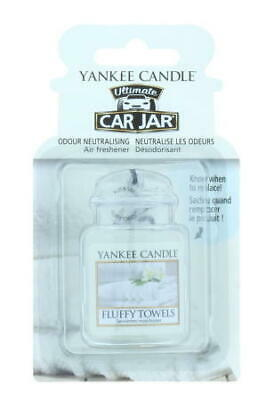 Yankee Candle Car Jar Air Freshener Ultimate Fluffy Towels - Brand New
