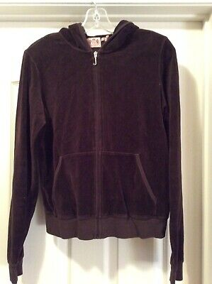 Juicy Couture Brown Velour Sweatsuit Top Size. XL