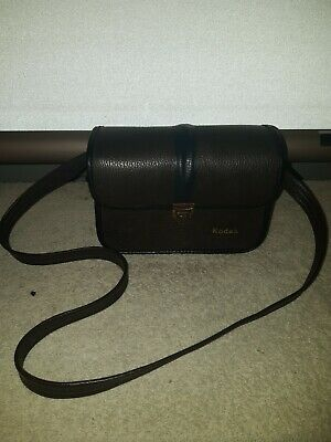 Vintage Kodak Brown Leather Field Case Camera Carrying Bag Briefcase Strap